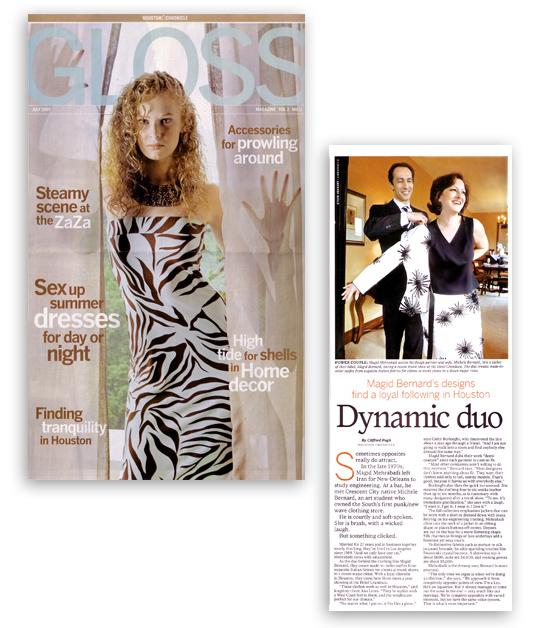 MAGID BERNARD in Houston Chronicle Gloss Magazine