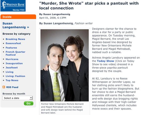 MAGID BERNARD feature by Susan Langenhennig