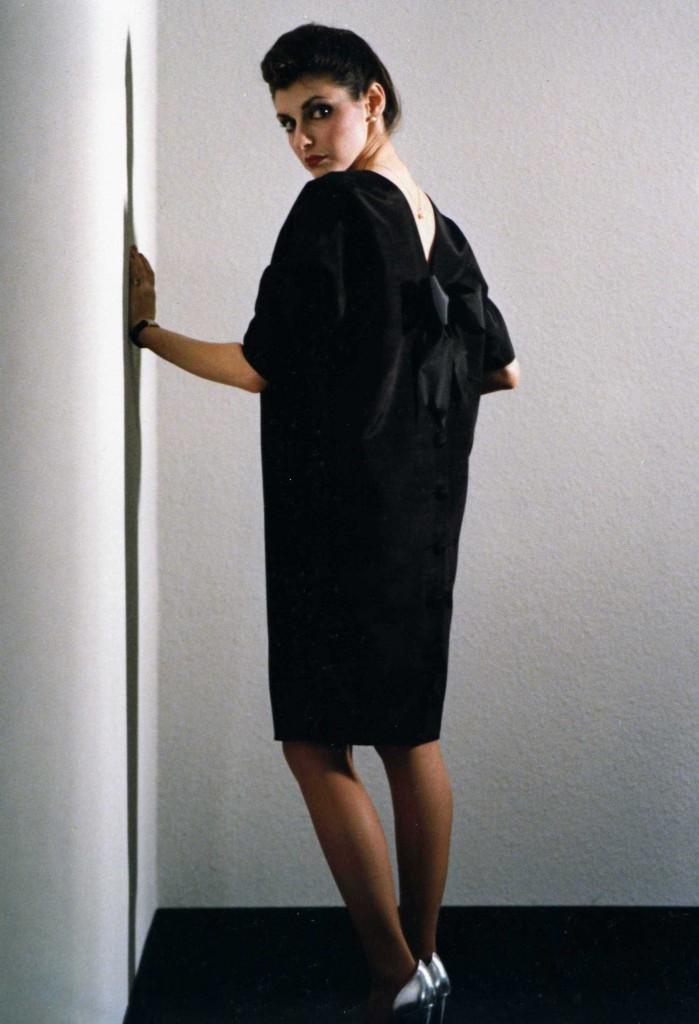 MAGID BERNARD V-Bow Dress