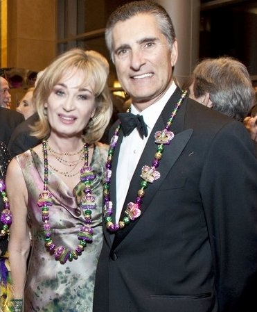 Cathy & Giorgio Borlenghi (Cathy wearing MAGID BERNARD Couture)